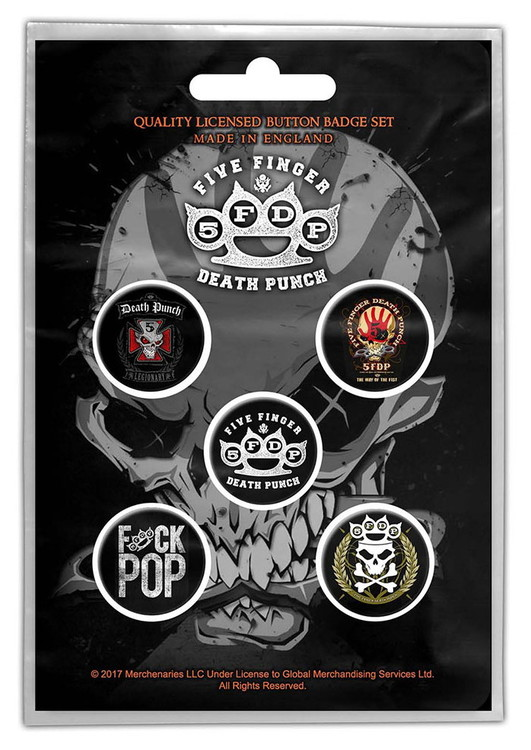 Five finger death punch 5-pack badge