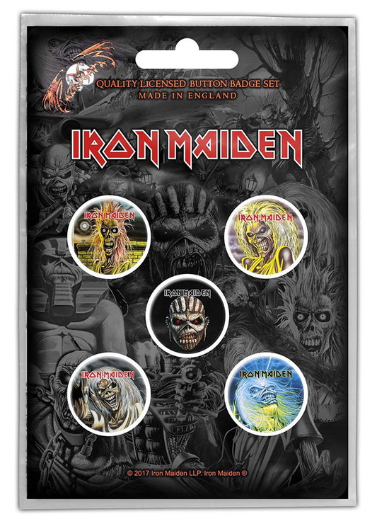 Iron maiden 5-pack badge