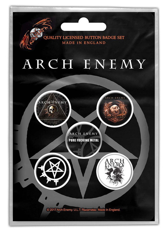 Arch enemy 5-pack badge