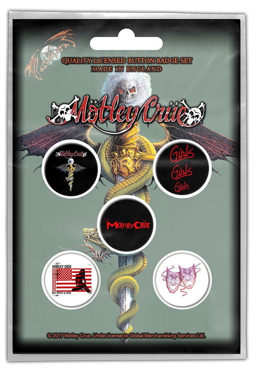 Mötley crue 5-pack badge