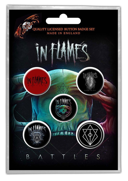 In flames 5-pack badge