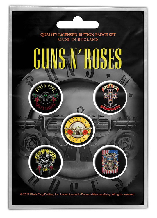 Guns n roses 5-pack badge