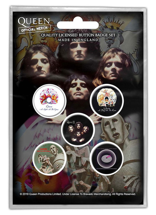 Queen 5-pack badge