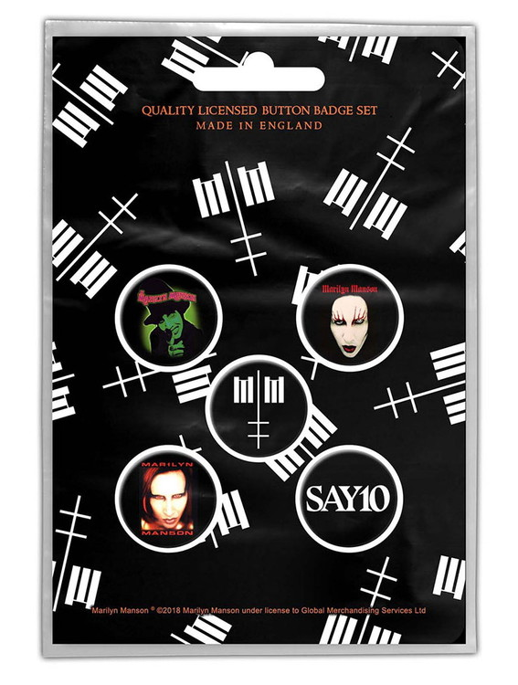 Marilyn Manson 5-pack badge