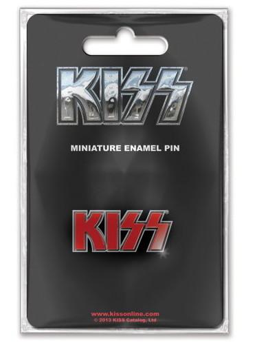 Kiss logo pin