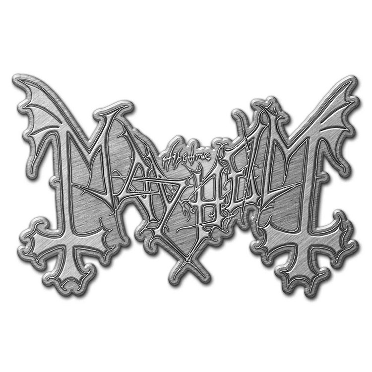 Mayhem logo pin