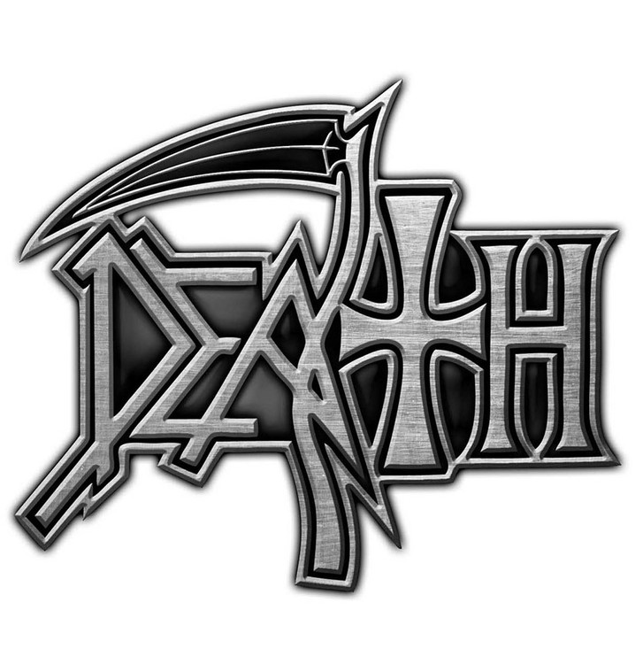 Death logo pin