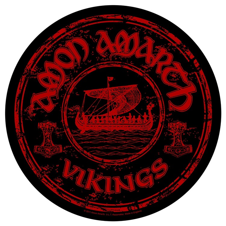 Amon Amarth 'Vikings Circular' Backpatch