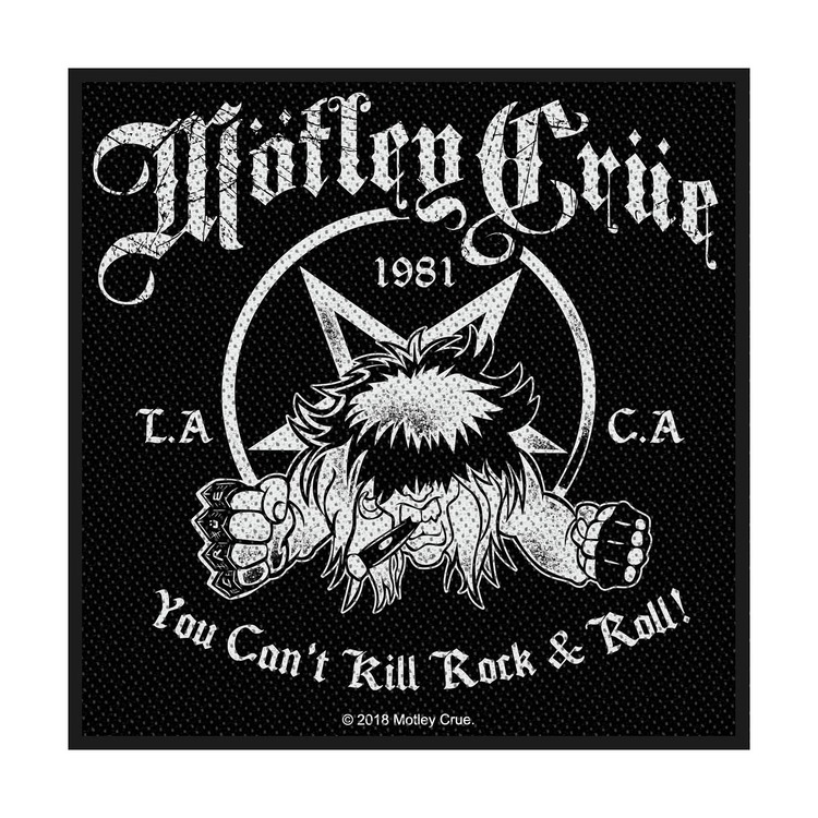 Motley Crue 'You Can't Kill Rock N Roll' Patch