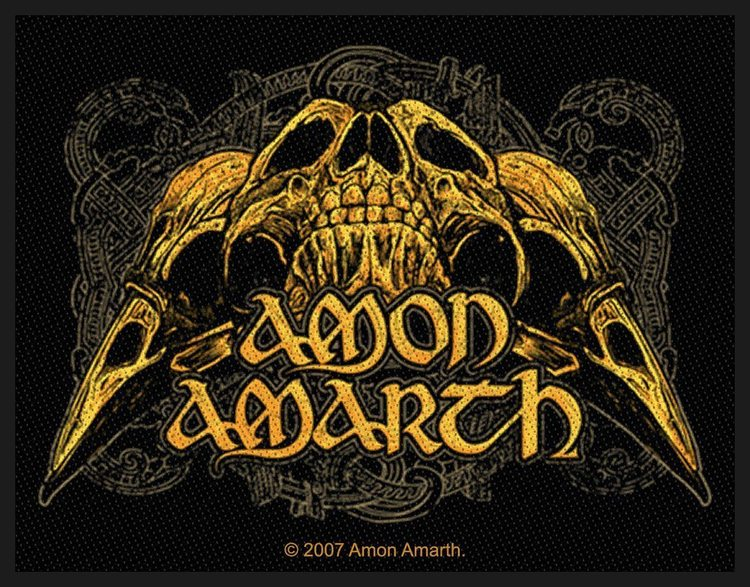 Amon Amarth 'Raven Skull' Patch