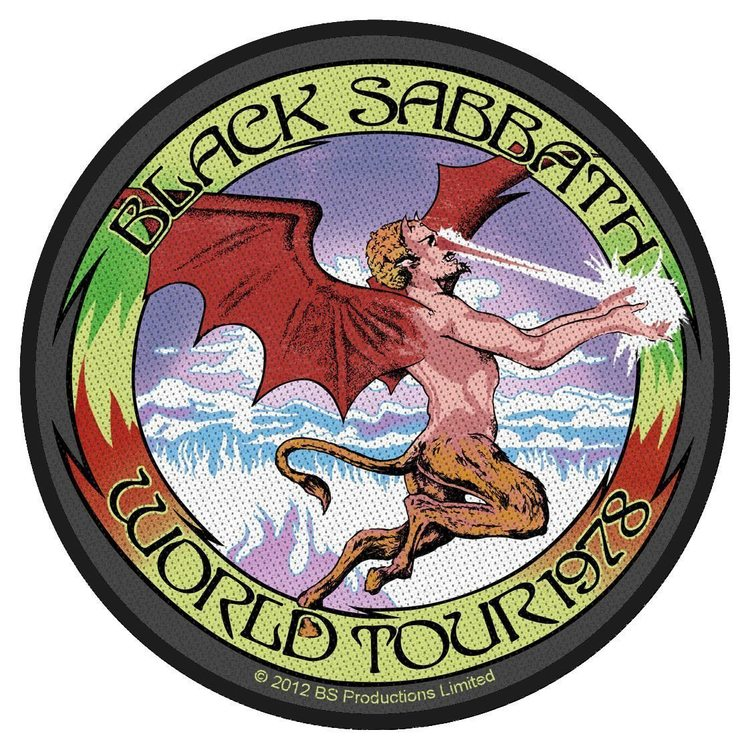 Black Sabbath 'World Tour 78' Patch