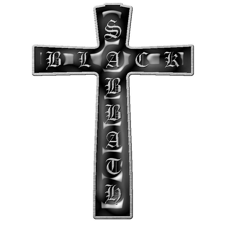 Black sabbath cross pin
