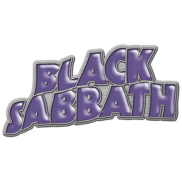Black sabbath Purple logo pin