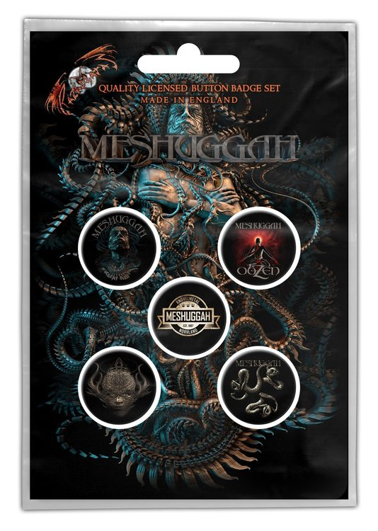 Meshuggah badge 5-pack
