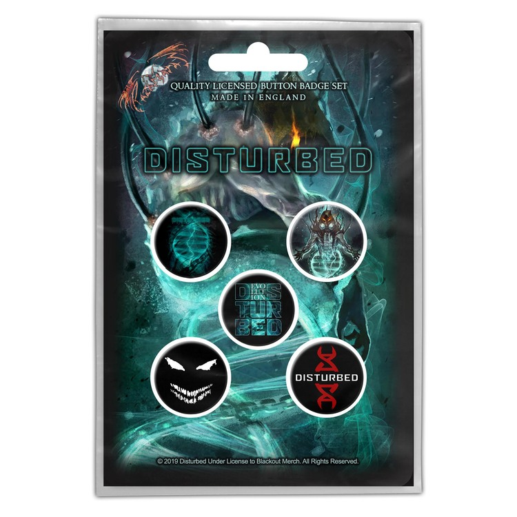 Disturbed badge 5-pack