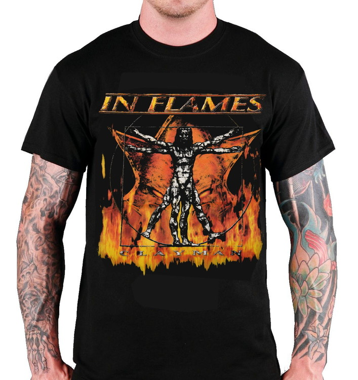 In flames Clayman T-shirt