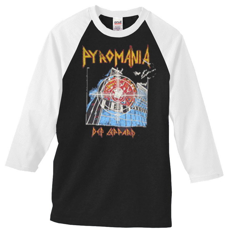 Def leppard  Pyromania baseballshirt