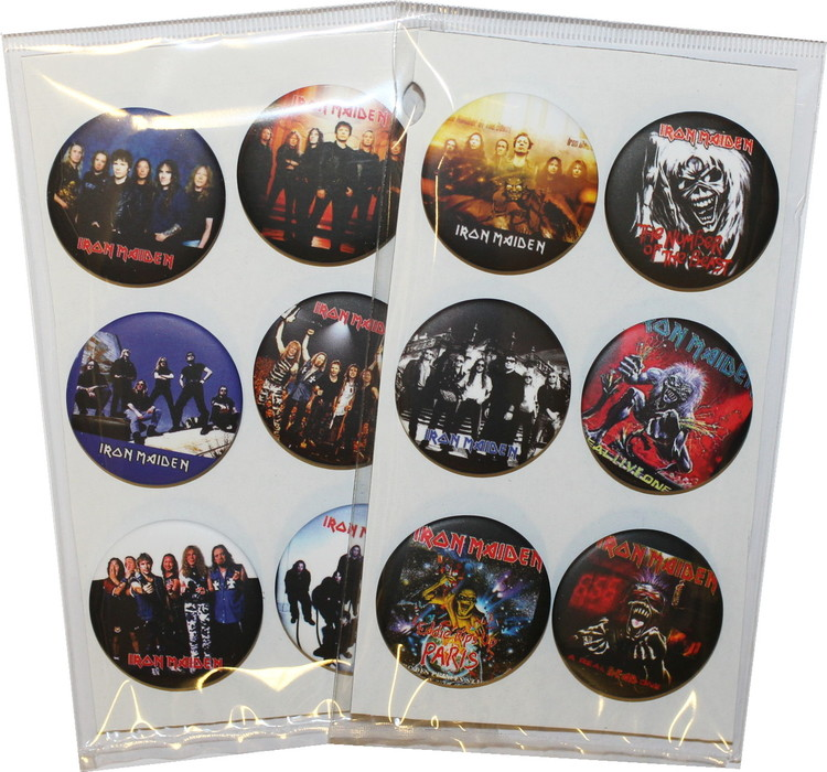 Iron maiden 6-pack badge