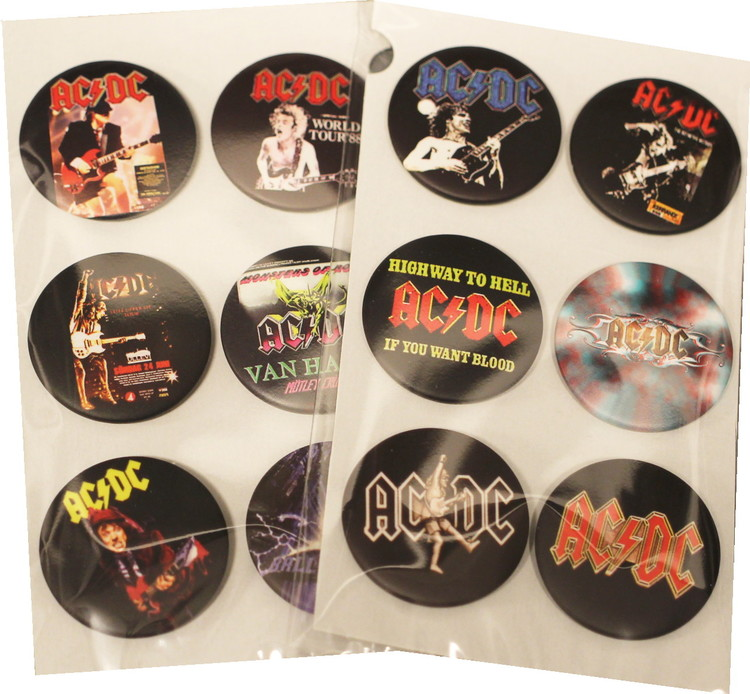 Ac/dc 6-pack badge