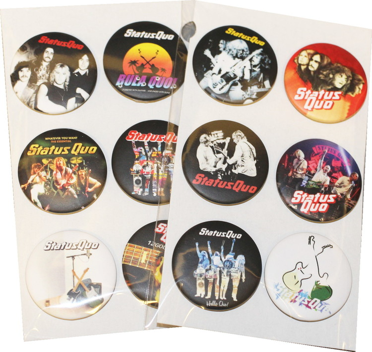 Status Quo 6-pack badge