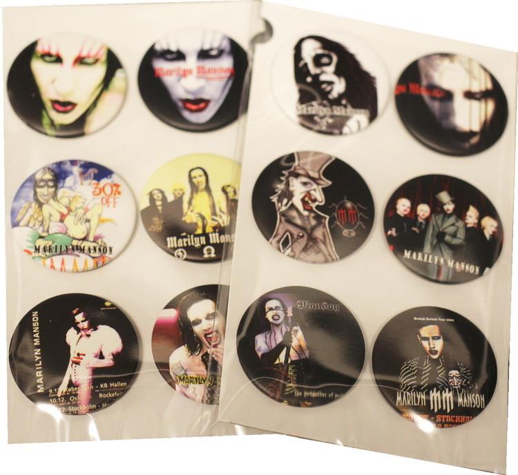 Marilyn Manson 6-pack badge