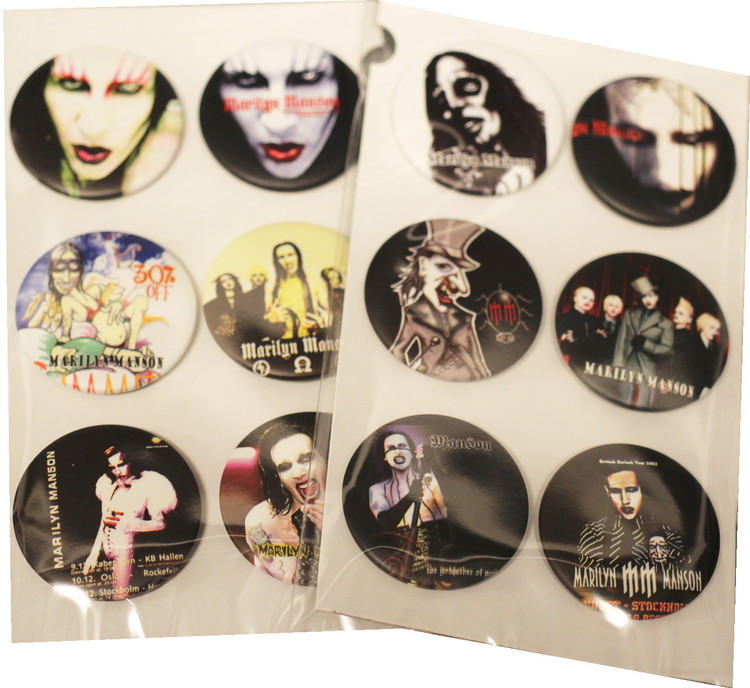Marilyn Manson 6-pack badge