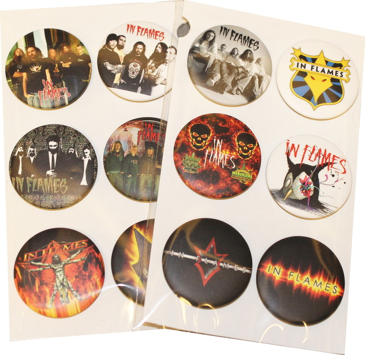 In flames 6-pack badge