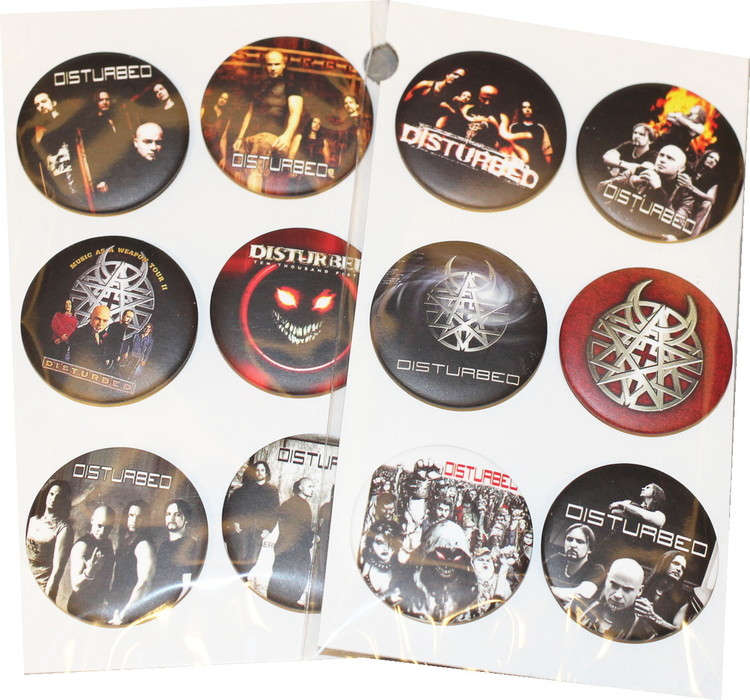 Disturbed 6-pack badge
