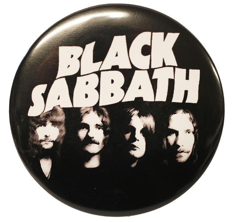 Black sabbath B/W XL badge