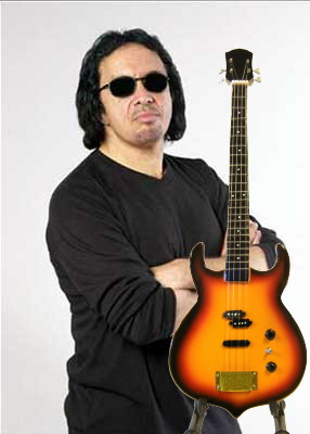 Gene Simmons bass sunburst