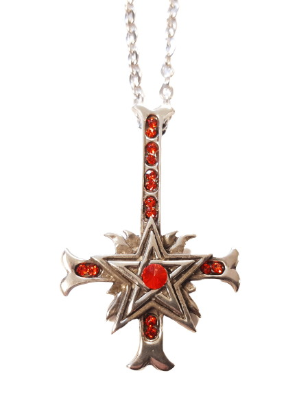 Halsband Reversed cross pentagram