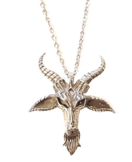 Necklace satanic goat