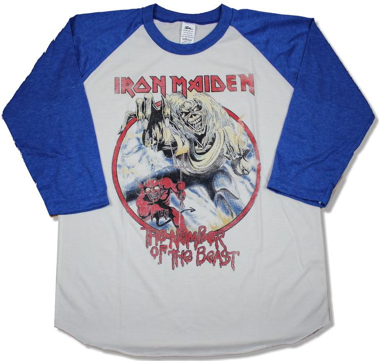 Iron maiden Number of the beast baseballshirt