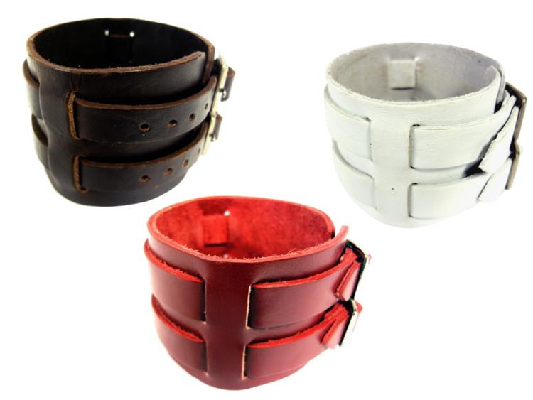 Läderarmband 3 färger