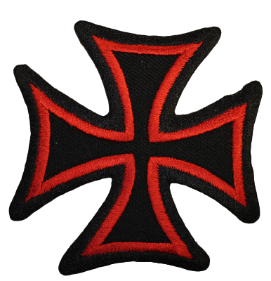 Malteserkors Svart/röd