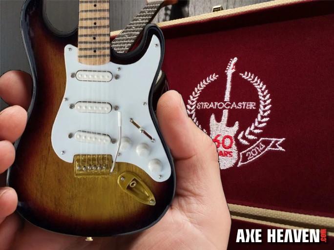 Fender™ Strat™ 60th Anniversary Mini Guitar Replica with special guitar case