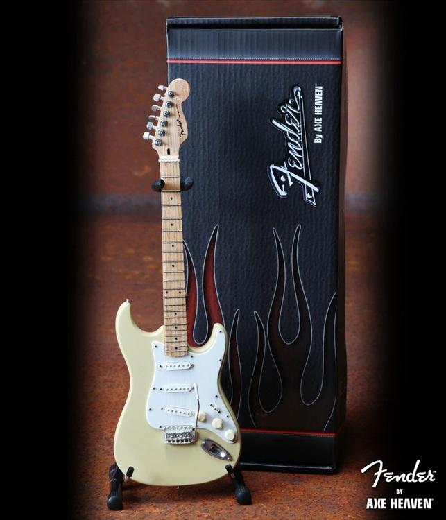 Cream Fender™ Strat™ Miniature Guitar Replica