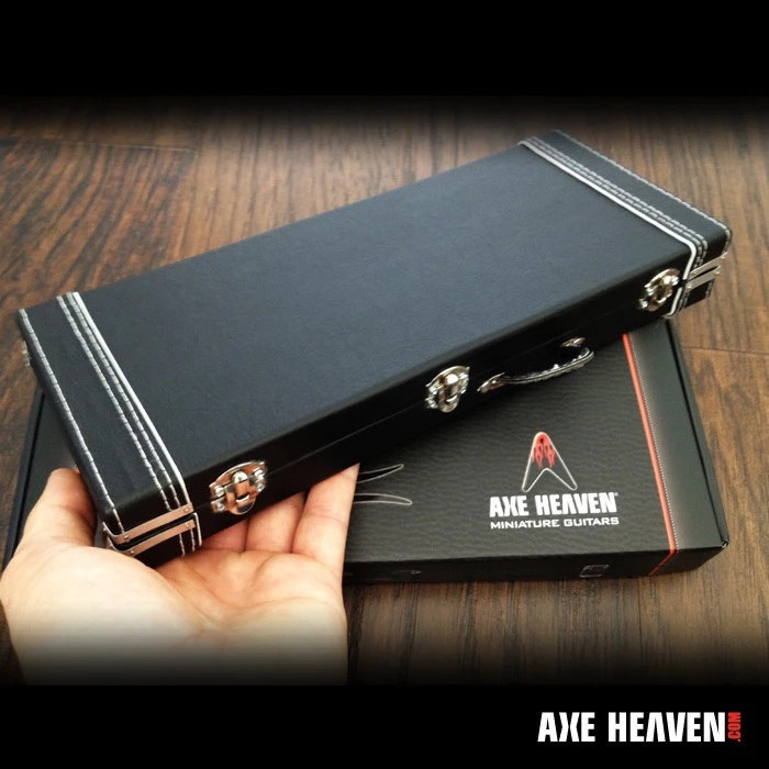 AXE HEAVEN® Miniature Classic Black Guitar Case Replica