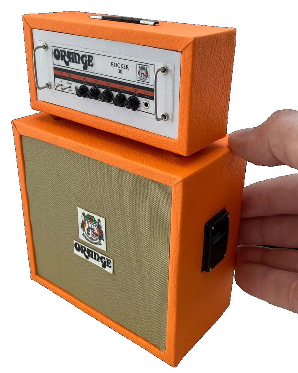 Miniature Orange ROCKER 30 Stack Amp Model