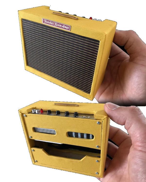 Miniature 1959 Fender Tweed Twin Ornamental Amp Model