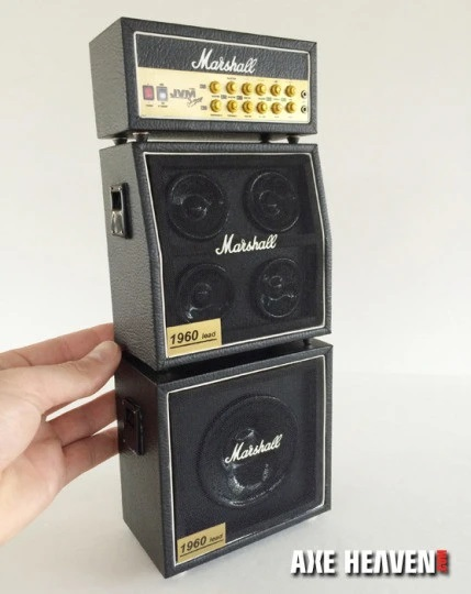 Full Marshall Stack Mini Amp – Classic Black MS Style Speaker Cabinets