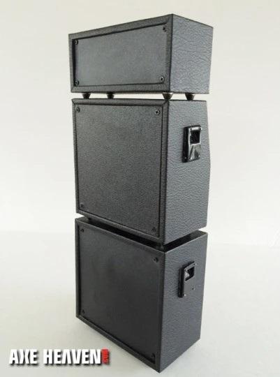 Full Marshall Stack Mini Amp – Classic Black MS Style Speaker Cabinets