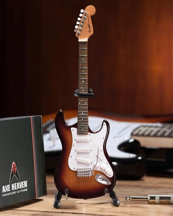 Sunburst Fender™ Strat™ Classic Miniature Guitar Replica
