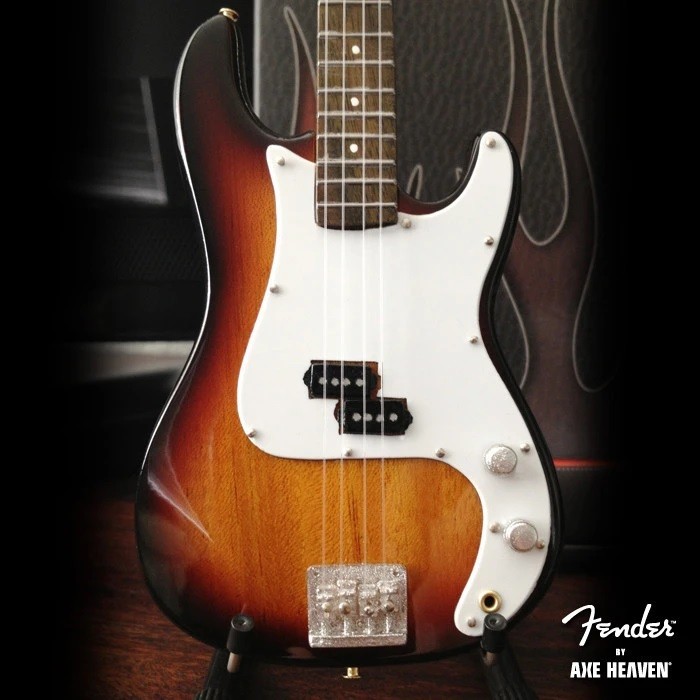 Fender™ Precision Bass™ Guitar Miniature Classic Sunburst
