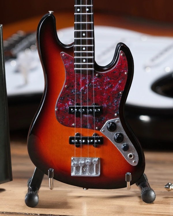Fender™ Sunburst Jazz Bass™ Miniature Guitar Replica