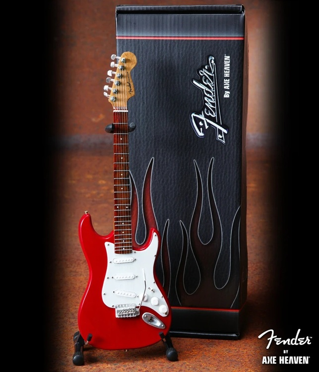 Fender™ Strat™ Red Miniature Guitar Replica