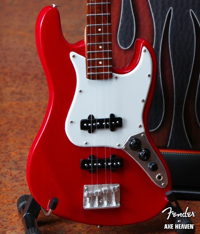 Fender™ Red Jazz Bass™ Miniature Guitar Replica