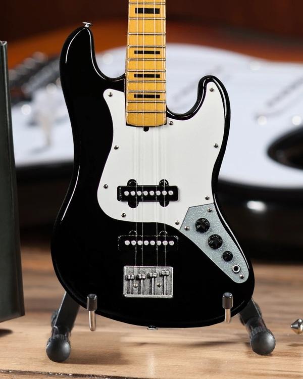 Fender™ Jazz Bass™ with Black Inlays Miniature Bass Guitar Replica