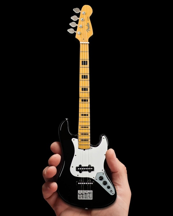 Fender™ Jazz Bass™ with Black Inlays Miniature Bass Guitar Replica