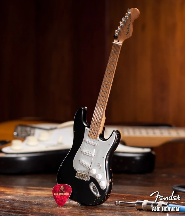 Eric's Signature Vintage Blackie Fender™ Strat™ Miniature Guitar Replica - Officially Licensed
